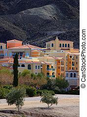 Modern architecture - Colorful buildings near Lake LasVegas