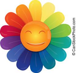 Vector rainbow flower