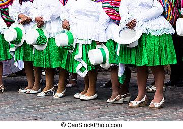 Peruvian dancers at the parade in Cusco.