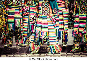 Peruvian dancers at the parade in Cusco.