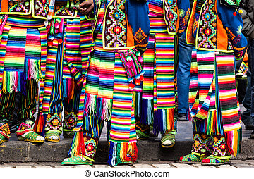 Peruvian dancers at the parade in Cusco