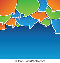 Vector abstract background with speech bubbles and copy...