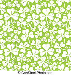Vector seamless pattern with clover leaf - abstract...