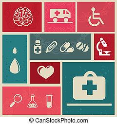 design elements with medical icons - Vector design elements...