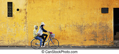 Two Girls on Bicycle