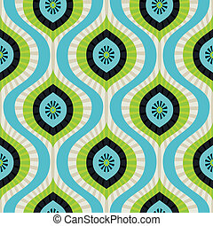 Vector seamless pattern - abstract background in blue and...