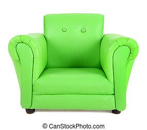 肘掛け椅子, 緑