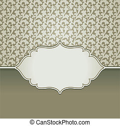 Vector vintage frame with copy space for text and floral...