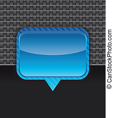 Vector metal background with blue frame - abstract design
