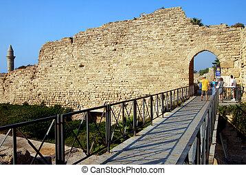 Caesarea Maritima - Israel - CAESAREA - AUG 23:Visitors at...