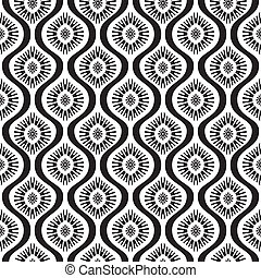 Vector seamless pattern - abstract background in black and...
