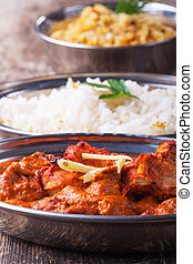 indian chicken tikka masala with rice