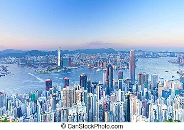Hong Kong evening view