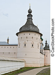 Rostov Kremlin - Wooden dome tower and wall of Rostov...