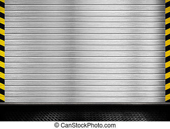 metal door background