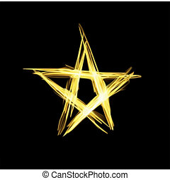 Abstract christmas gold star Vector illustration
