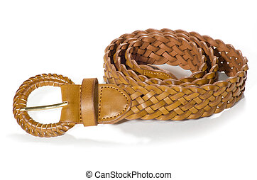 belts - women belts on a white background
