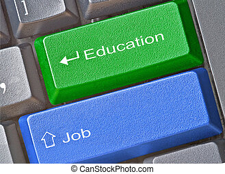 Keys for education and job