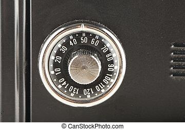 botão, cofre, combinação, Mecânico