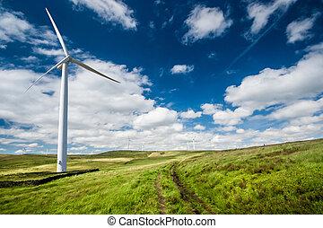 Wind Farm - A Wind Turbine on a Wind Farm