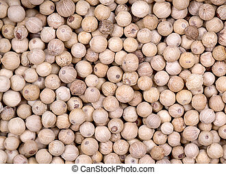 White peppercorn background - A background of white...