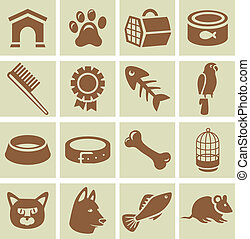 Vector design elements for veterinary - collection of icons...