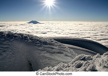 close to the sun - great view from the summit of cotopaxi,...