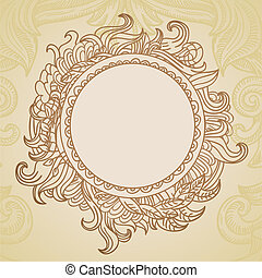 Abstract hand drawn frame with copy-space - vector...