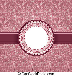 Vector love background with copy space - Vector background...