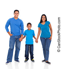 indian family holding hands - cheerful young indian family...