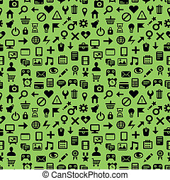 vector seamless pattern with technology icons - abstract...