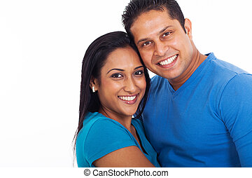 young indian couple - portrait of young indian couple over...