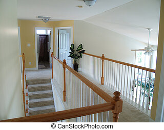 Interior Landing - View from an interior balcony of the...