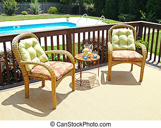 Comfortable Patio - Two comfortable chairs on a patio...