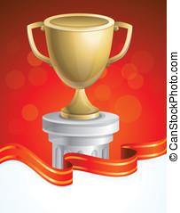 vector golden cup