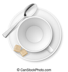 Cup of sugar Illustration on white background