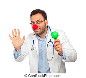 Clown young doctor - Patch adams concept with young doctor...