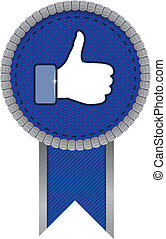 facebook like sign - vector illustration