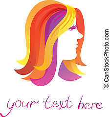 vector  beauty logo - beauty logo - pretty woman -  vector