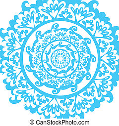 blue graphic mandala - vector illustration