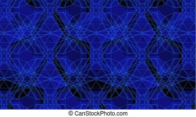 Spider Blue Net Line Kaleidoscope - Spider Blue Net Line...