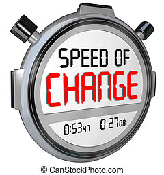 Speed of Change Stopwatch Timer Clock Time to Innovate -...