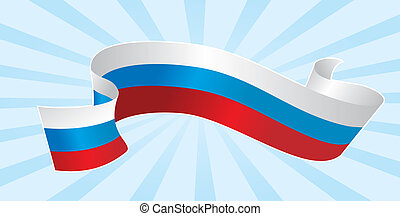 Russian flag - vector illustration