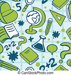 school seamless pattern - vetor illustration