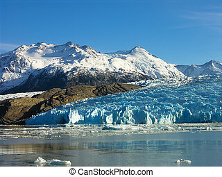 Lago Grey in Torres del Paine - Lago Grey in the Torres del...