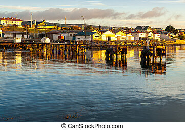 Punta Arenas cityscape,the southernmost city on earth,Chile