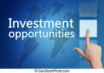 Investment opportunities - Business concept: words...