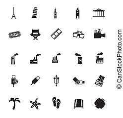 varied icons over white background vector illustration