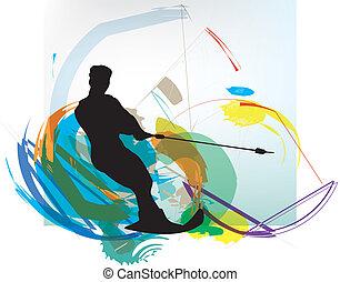 Water skiing man