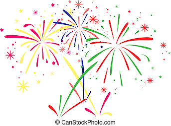 vector fireworks background - vector abstract anniversary...